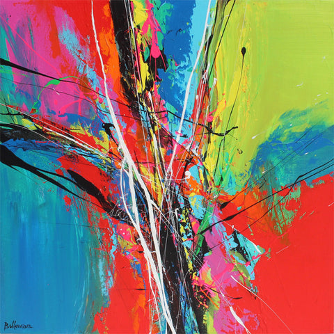 chatuchak 20x20 po/in Painting - Unique Abstract Art by Pierre Bellemare