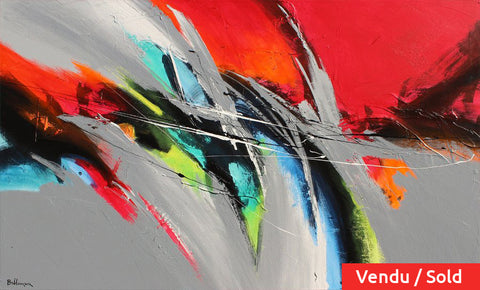Color Beat 36x60 po/in Painting - Unique Abstract Art by Pierre Bellemare