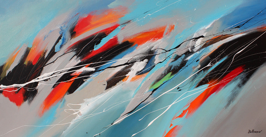 Dalga 30x60 po/in Painting - Unique Abstract Art by Pierre Bellemare
