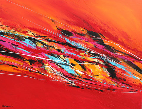 Extravagante 30x36 po/in Painting - Unique Abstract Art by Pierre Bellemare