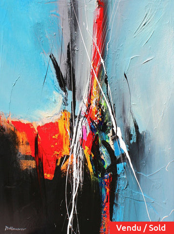 Go Up 36x24 po/in Painting - Unique Abstract Art by Pierre Bellemare