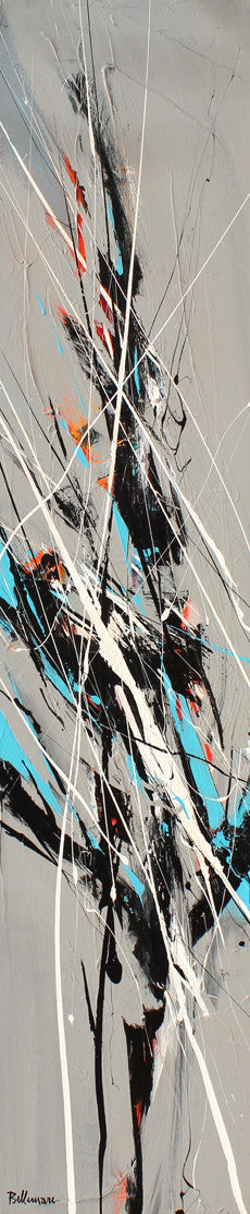 Graffiti 60x12 po/in Painting - Unique Abstract Art by Pierre Bellemare