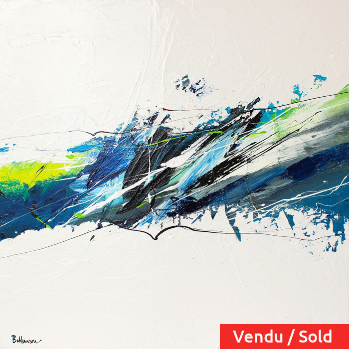 H2o 30x30 po/in Painting - Unique Abstract Art by Pierre Bellemare