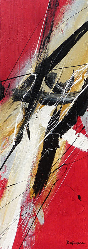 Japan Spirit 36x12 po/in Painting - Unique Abstract Art by Pierre Bellemare