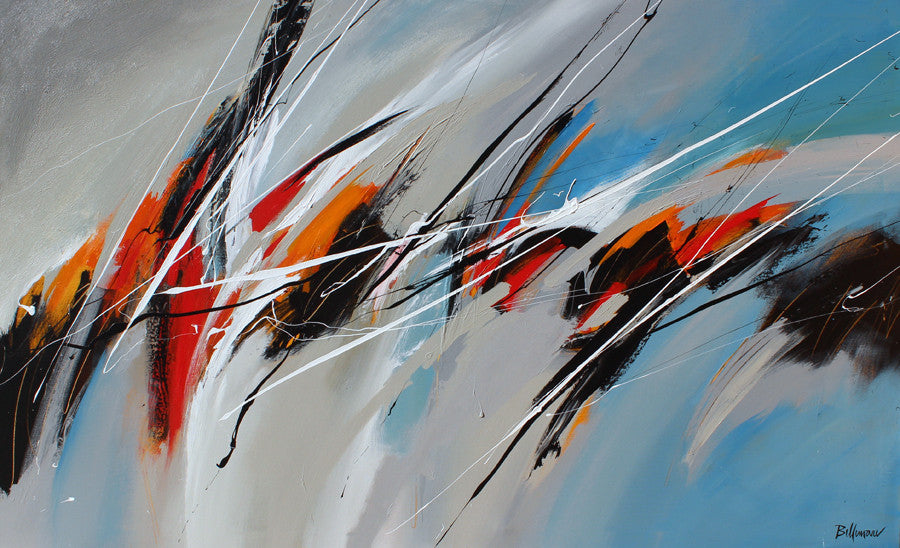Kardio 36x60 po/in Painting - Unique Abstract Art by Pierre Bellemare