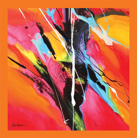 Orange Dream Painting - Unique Abstract Art by Pierre Bellemare
