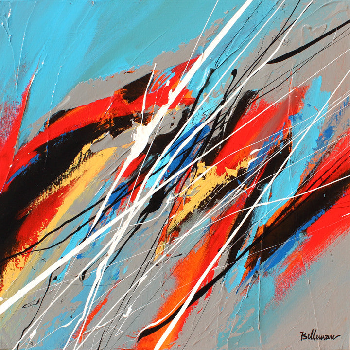 Paso 20x20 po/in Painting - Unique Abstract Art by Pierre Bellemare