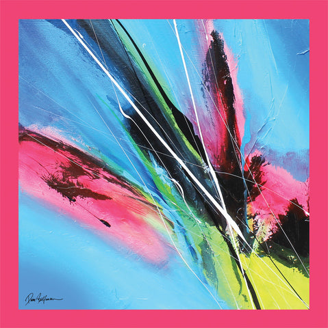 Pink Blossom Painting - Unique Abstract Art by Pierre Bellemare
