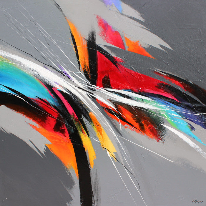 Rhythm in colors 48x48 po/in Painting - Unique Abstract Art by Pierre Bellemare