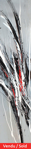 Steel 60x12 po/in Painting - Unique Abstract Art by Pierre Bellemare