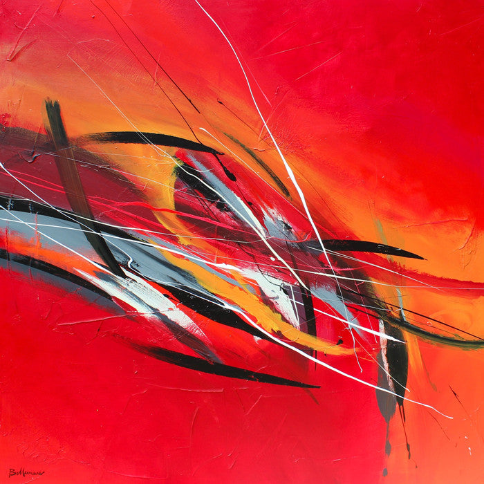 Via Musica 48x48 po/in Painting - Unique Abstract Art by Pierre Bellemare