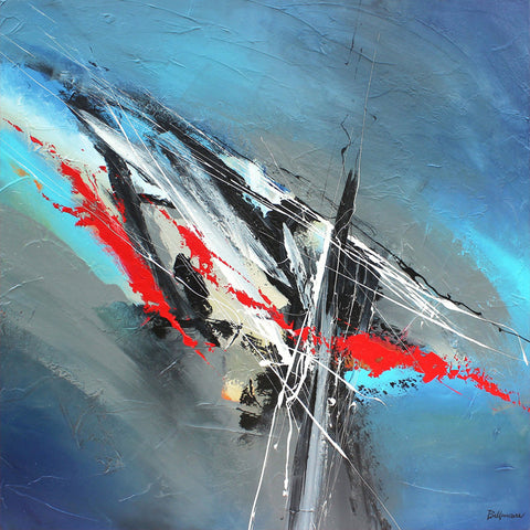 Ascent 48x48 po/in Painting - Unique Abstract Art by Pierre Bellemare