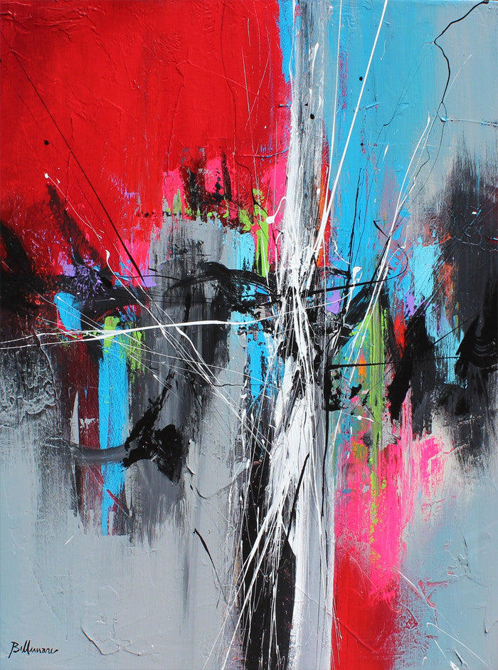 Bangkok 36 x 30 po/in Painting - Unique Abstract Art by Pierre Bellemare