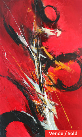 Berlinetta 60x36 po/in Painting - Unique Abstract Art by Pierre Bellemare