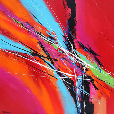 Cadence 40x40 po/in Painting - Unique Abstract Art by Pierre Bellemare
