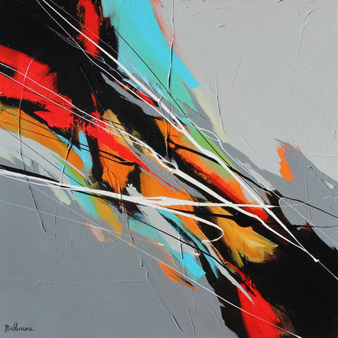 Cambio 24x24 po/in Painting - Unique Abstract Art by Pierre Bellemare