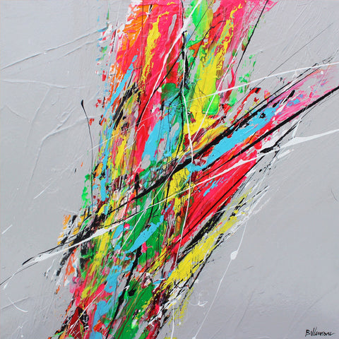 Champagne 20 x 20 Po/in Painting - Unique Abstract Art by Pierre Bellemare