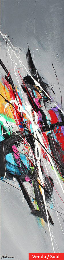 clef de sol 48x12 po/in Painting - Unique Abstract Art by Pierre Bellemare