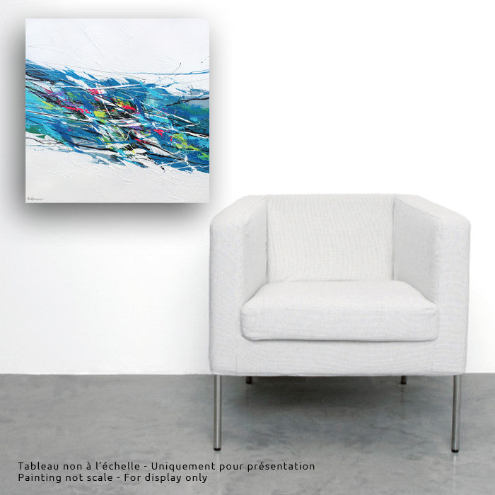 Nevicata 24x24 po/in Painting - Unique Abstract Art by Pierre Bellemare