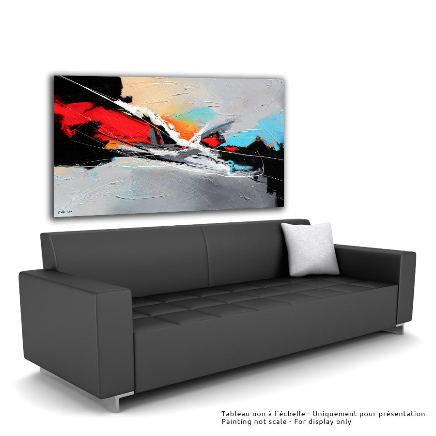 F1 36x60 po/in Painting - Unique Abstract Art by Pierre Bellemare