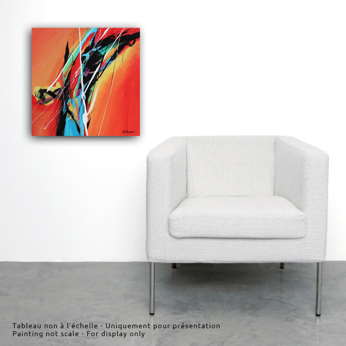 Adagio 20x20 po/in Painting - Unique Abstract Art by Pierre Bellemare