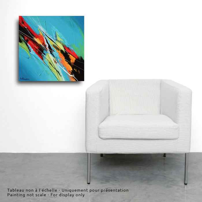 Agua 20x20 po/in Painting - Unique Abstract Art by Pierre Bellemare