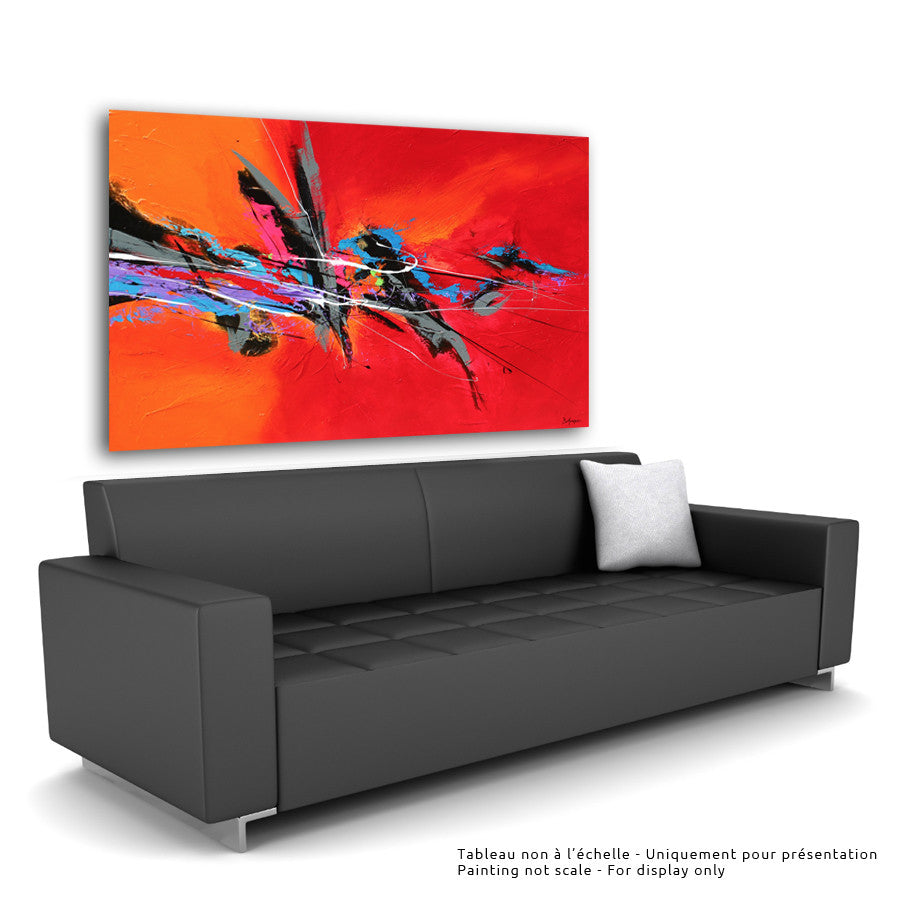 Allegria 36x60 po/in Painting - Unique Abstract Art by Pierre Bellemare