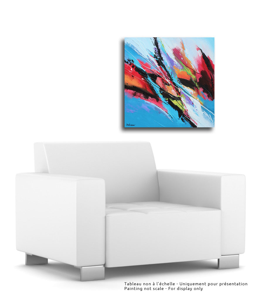 Celebrar 20x20 po/in Painting - Unique Abstract Art by Pierre Bellemare