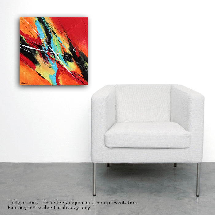 City Sounds 20x20 po/in Painting - Unique Abstract Art by Pierre Bellemare
