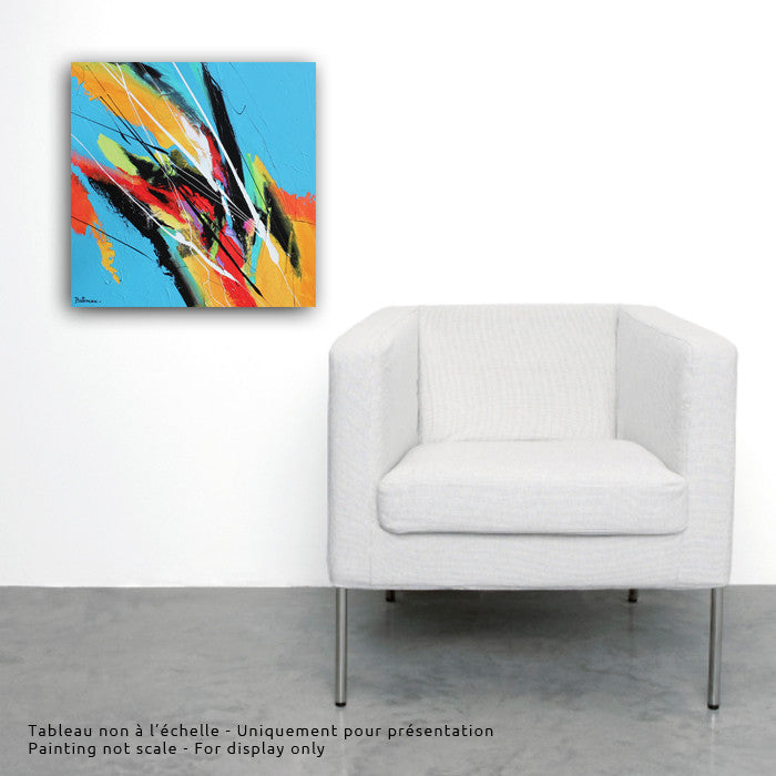 Cadence 20x20 po/in Painting - Unique Abstract Art by Pierre Bellemare