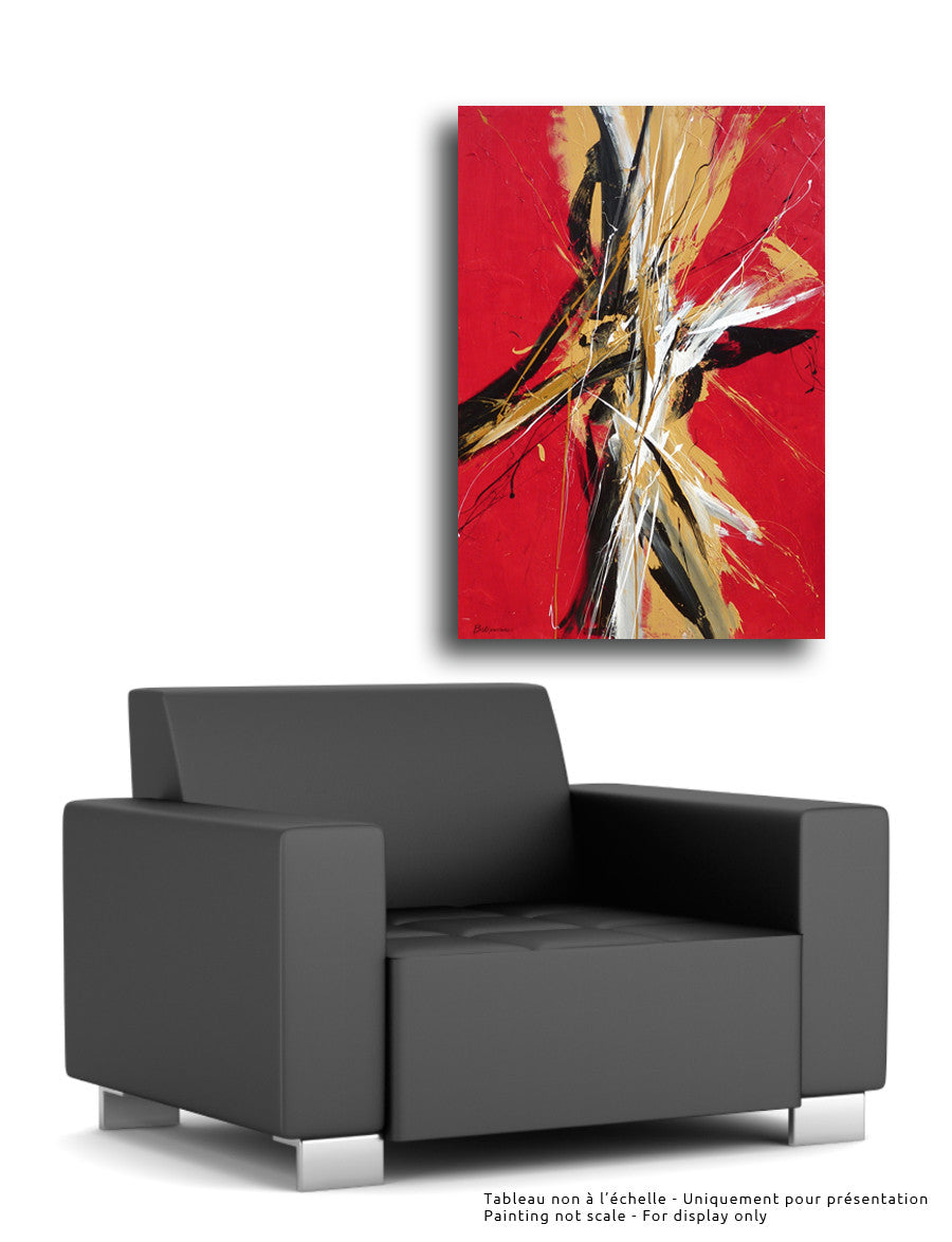 Dancing 60x36 po/in Painting - Unique Abstract Art by Pierre Bellemare
