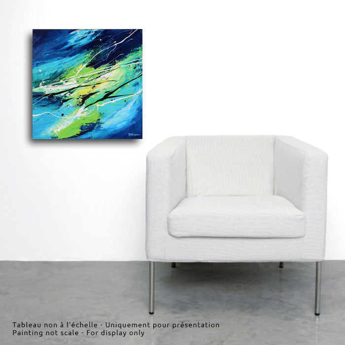Éire 20x20 po/in Painting - Unique Abstract Art by Pierre Bellemare