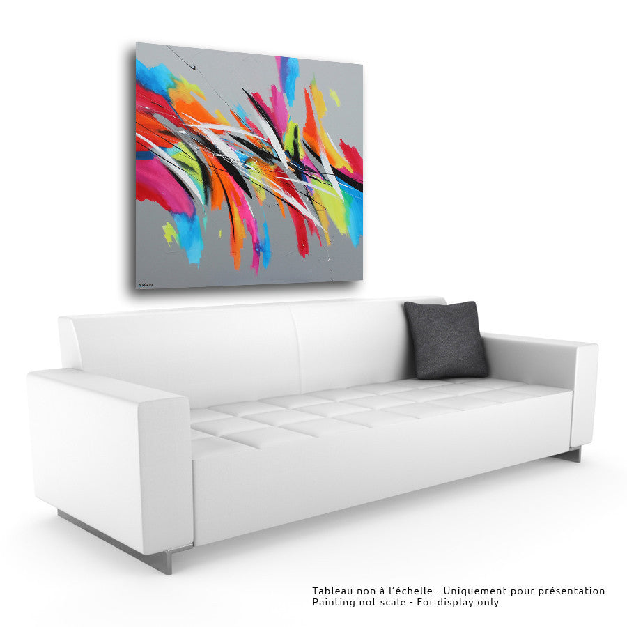 Fresh 48x48 po/in Painting - Unique Abstract Art by Pierre Bellemare