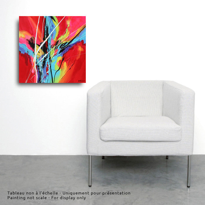 From the Sky 2  20x20 po/in Painting - Unique Abstract Art by Pierre Bellemare