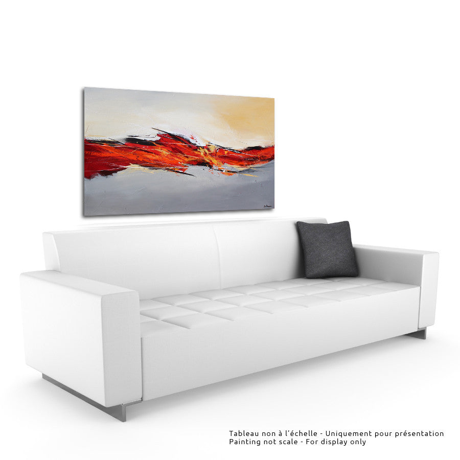 Fusione 36x60 po/in Painting - Unique Abstract Art by Pierre Bellemare