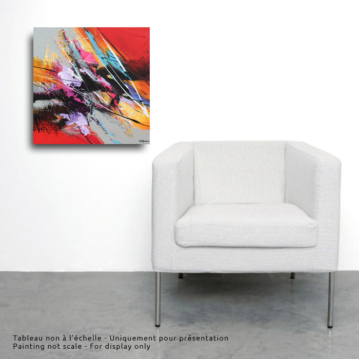 Graffiti 20x20 po/in Painting - Unique Abstract Art by Pierre Bellemare