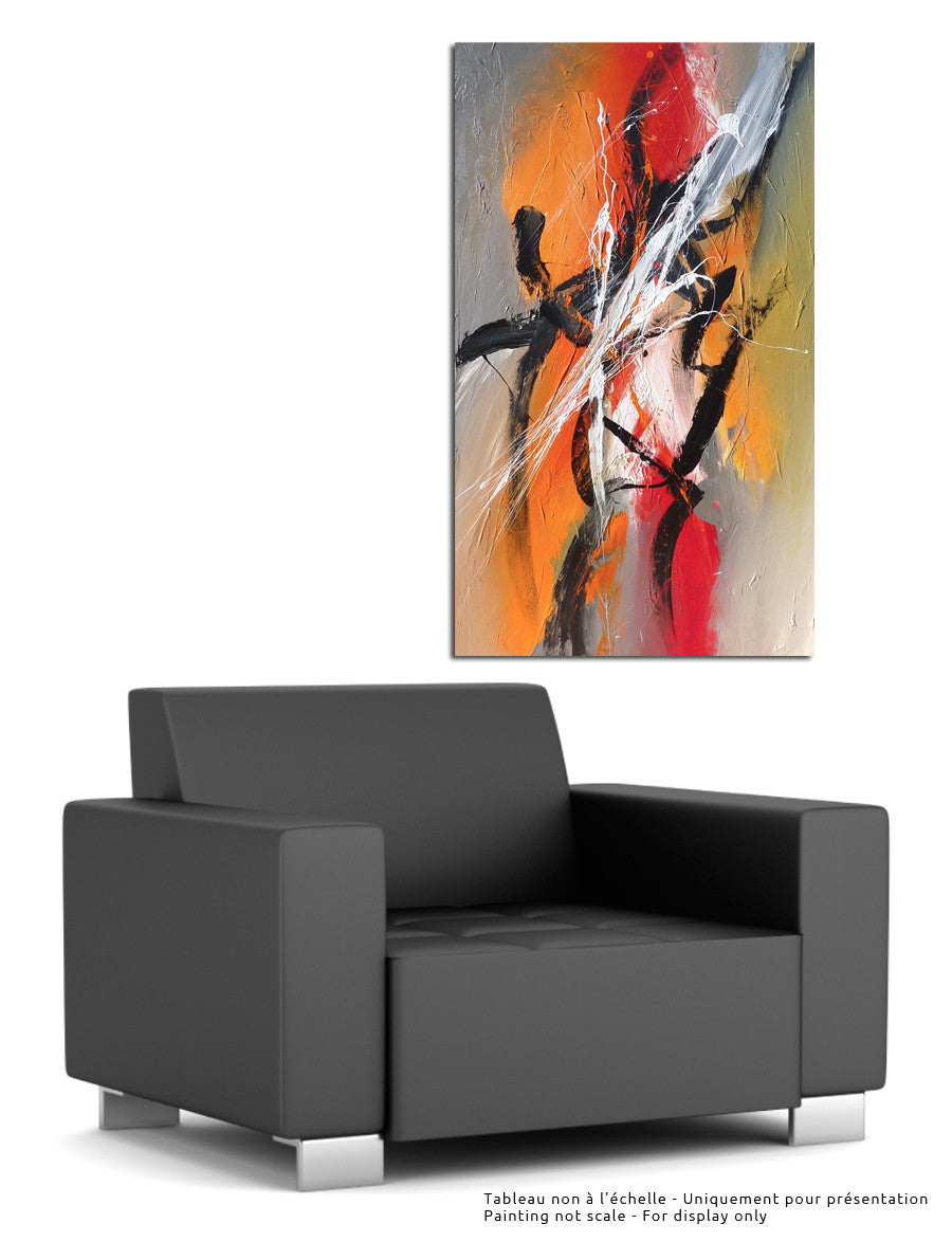 Higher 60x36 po/in Painting - Unique Abstract Art by Pierre Bellemare