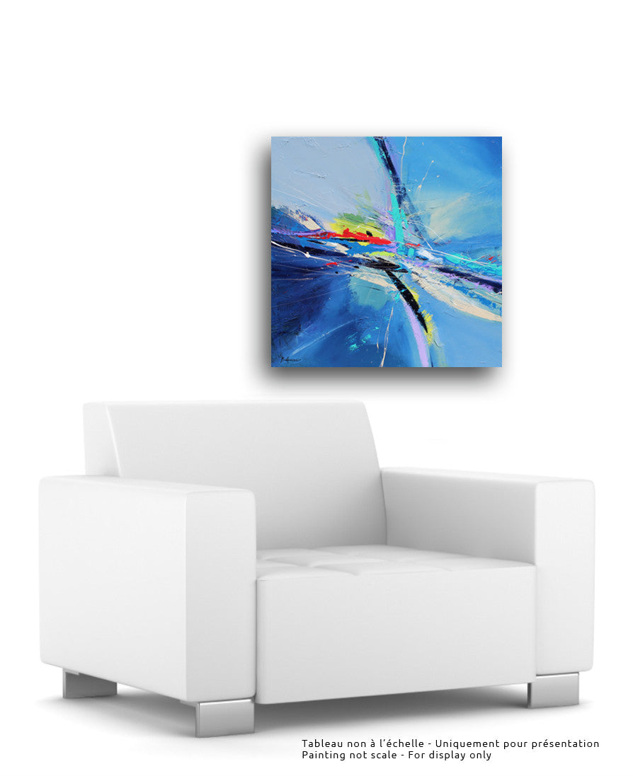 Ocean 30x30 po/in Painting - Unique Abstract Art by Pierre Bellemare
