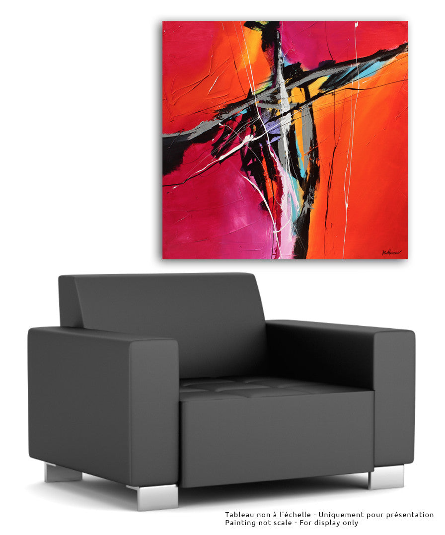 Indie Morning 48x48 po/in Painting - Unique Abstract Art by Pierre Bellemare