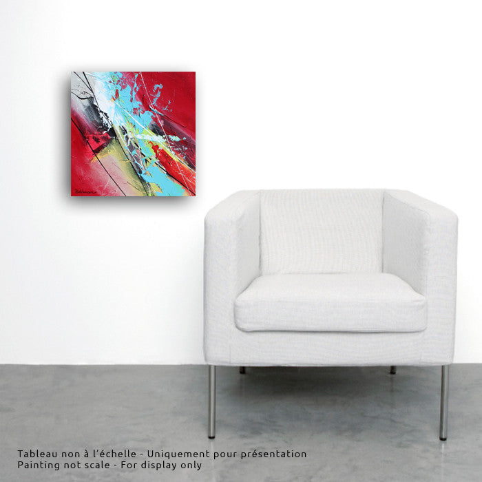 Joya 001 12x12 po/in Painting - Unique Abstract Art by Pierre Bellemare