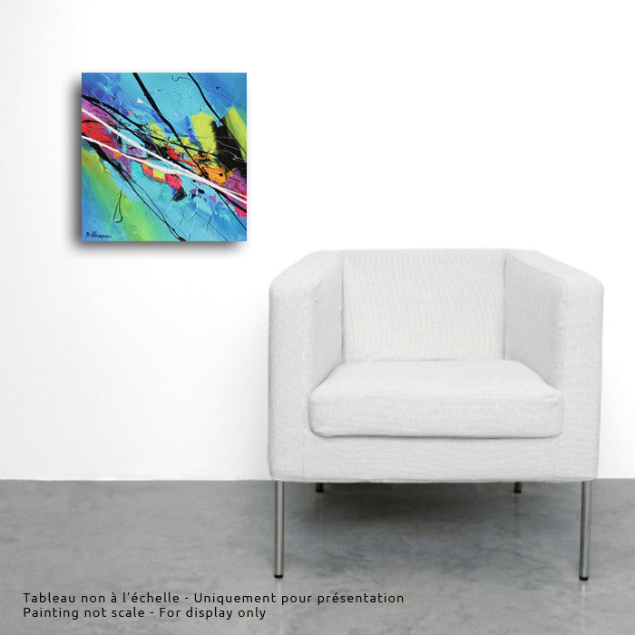 Joya 013  12x12 po/in Painting - Unique Abstract Art by Pierre Bellemare