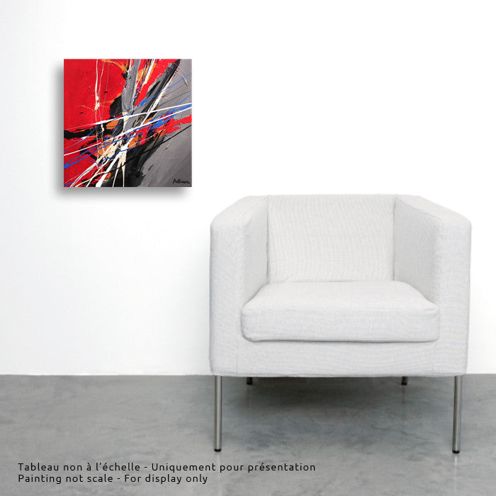 Joya 021 12X12 po/in Painting - Unique Abstract Art by Pierre Bellemare