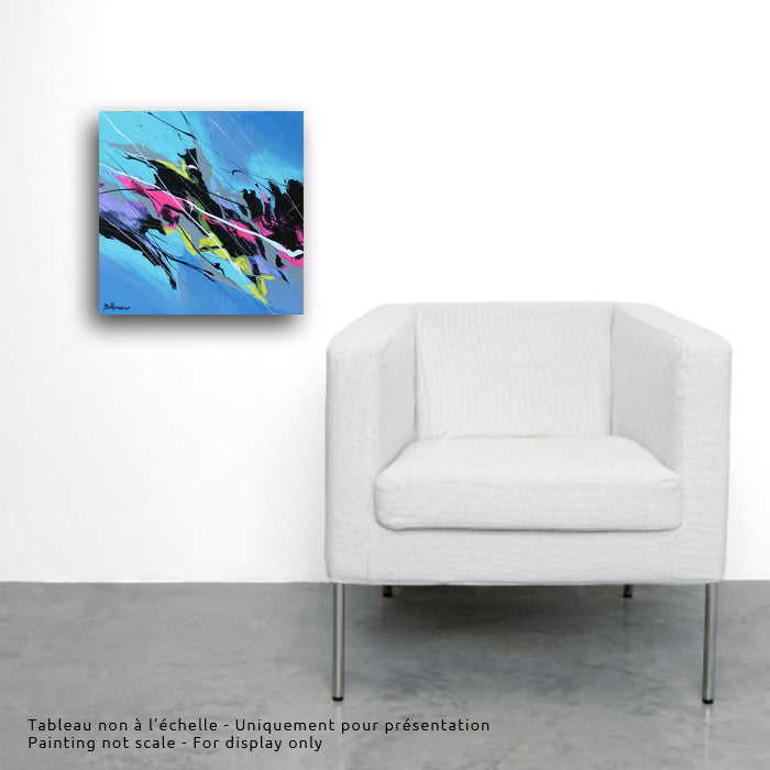 Joya 022  16x16 po/in Painting - Unique Abstract Art by Pierre Bellemare