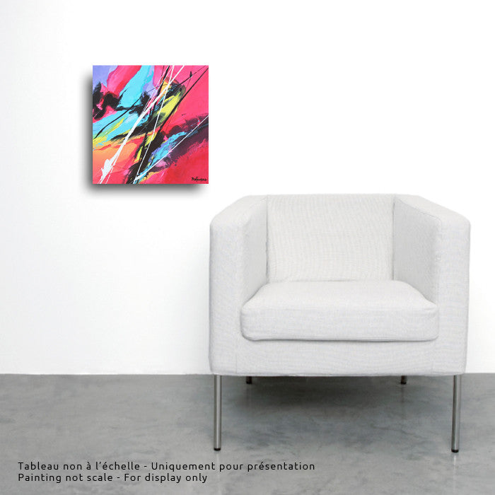 Joya 025 12x12 po/in Painting - Unique Abstract Art by Pierre Bellemare