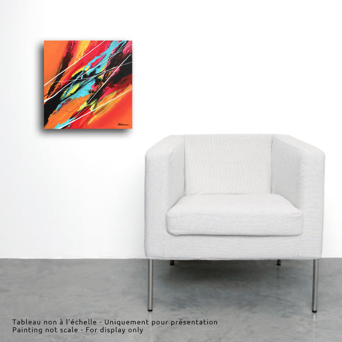Joya 031 12x12 po/in Painting - Unique Abstract Art by Pierre Bellemare