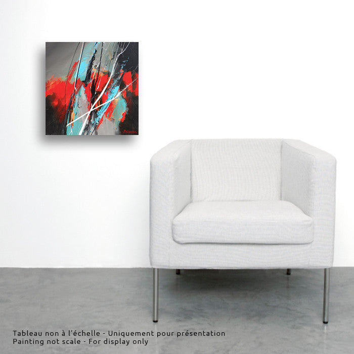 Joya 032 12x12 po/in Painting - Unique Abstract Art by Pierre Bellemare