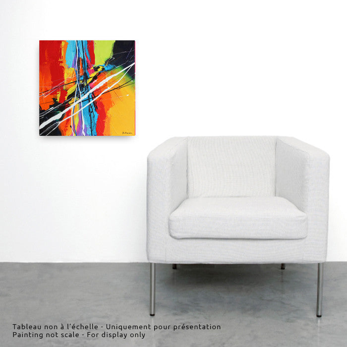 Joya Holi 1 12X12 po/in Painting - Unique Abstract Art by Pierre Bellemare