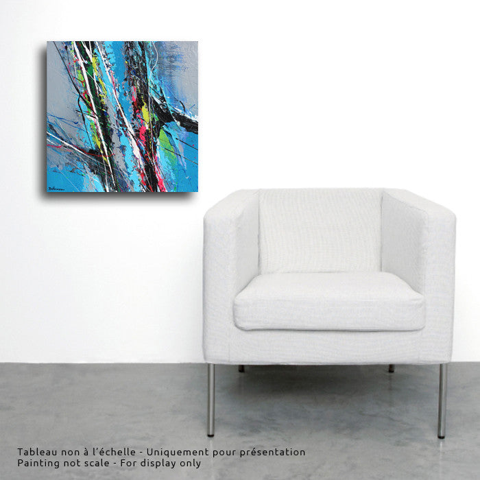 From the Sky 16x16 po/in Painting - Unique Abstract Art by Pierre Bellemare