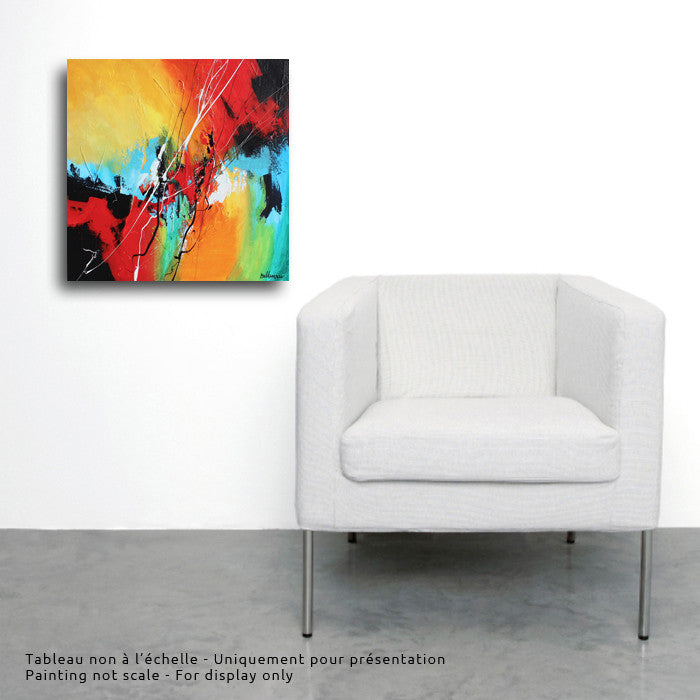 Quatre éléments 20x20 po/in Painting - Unique Abstract Art by Pierre Bellemare