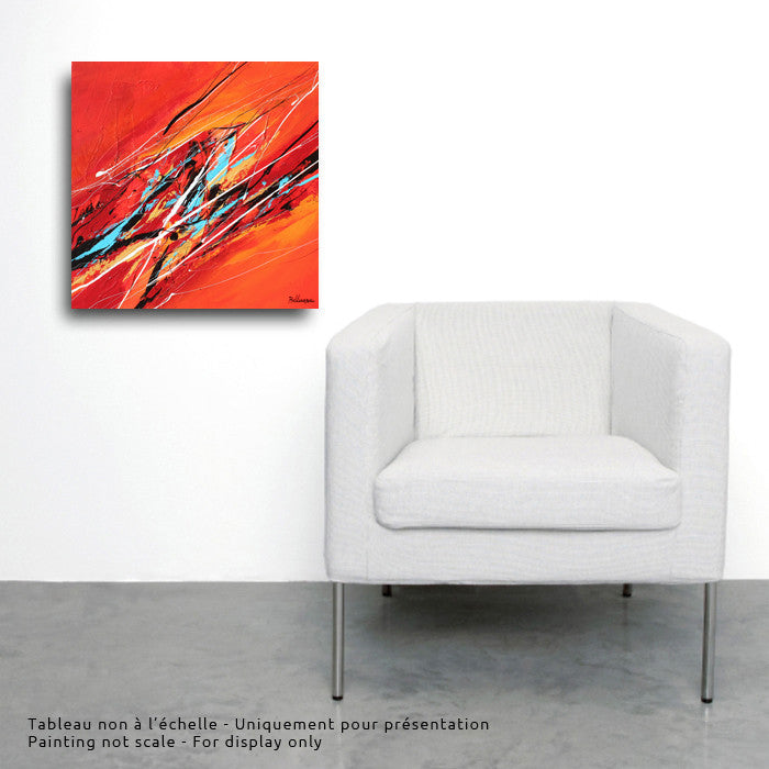 Verano 2 20x20 po/in Painting - Unique Abstract Art by Pierre Bellemare